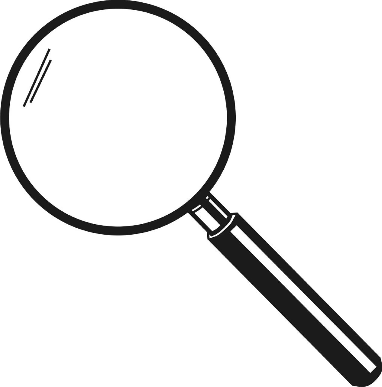 Lupe Magnifier Loupe Glass  - OpenClipart-Vectors / Pixabay